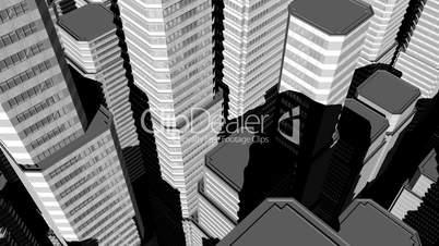 3D City Aerial HD1080