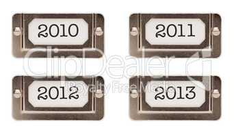 2010, 2011, 2012, 2013 File Drawer Labels