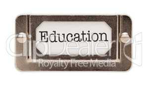 Education File Drawer Label