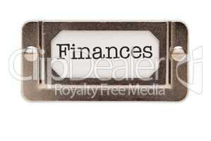 Finances File Drawer Label