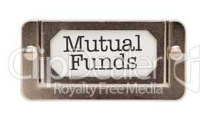 Mutual Funds File Drawer Label
