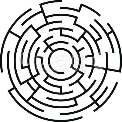 maze with circle shape