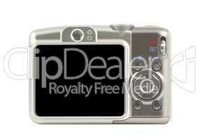 Digital compact camera back side