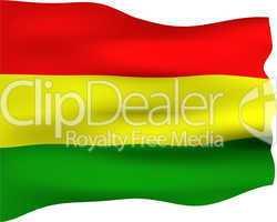 3D Flag of Bolivia