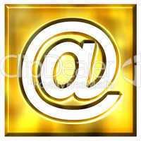 3D Golden Framed Email Symbol