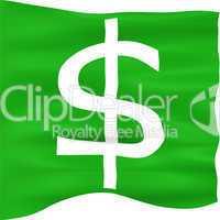 3D Dollar Flag