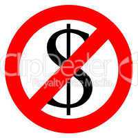 Free of charge anti dollar sign