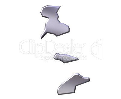 Macao 3D Silver Map