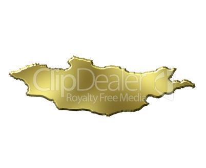 Mongolia 3d Golden Map