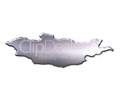 Mongolia 3D Silver Map