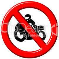No motorbikes 3d sign