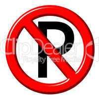 No parking 3d sign