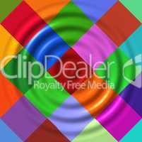 Ripples on colorful diamonds