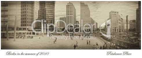 Potsdamer Platz auf Nostalgie getrimmt