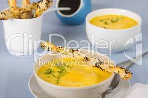 Möhren-Currysuppe