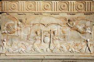 bas-relief on the Patronato De La Alhambra