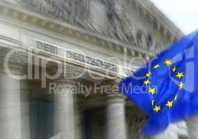 Reichstag Berlin mit Europafahne