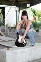 Grunge/Punk Rocker Girl with Guitar (1)