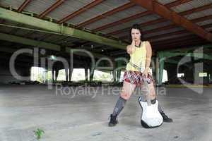 Grunge/Punk Rocker Girl with Guitar (5)