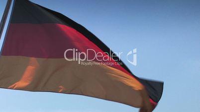 Wehende Deutschlandflagge