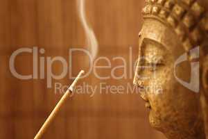 Smoke Meditation with Buddha Head