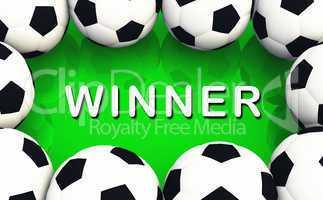 Fussball Gewinner - Soccer Winner