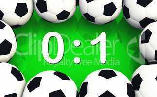 Fussball Spielergebnis 0 zu 1