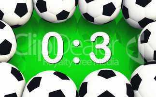 Fussball Spielergebnis 0 zu 3