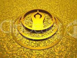 Om Prayer - Aum Gebet symbol aus Gold