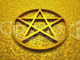 3D Pentagramm aus Gold