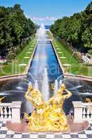 Fountain in Peterhof. St. Petersburg. Russia