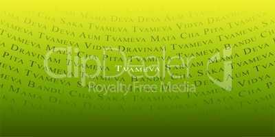 Mantra - Tvameva - Gelb Grün Mantra