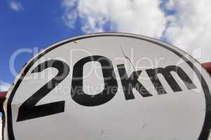 20 km Himmel