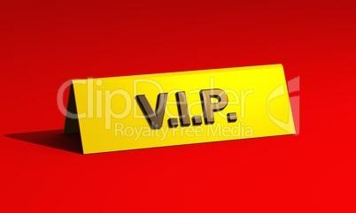Premium VIP-Schild auf rotem Teppich
