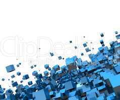 Fliegende Würfel Blau 02