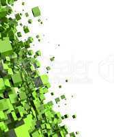 Fliegende Würfel Grün 02