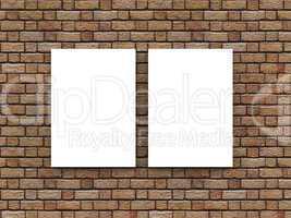 2x Werbeschild an Wand - DIN Format
