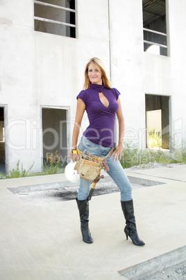 Sexy Blonde Construction Worker (2)
