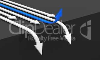 3D - Business Concept - Blue winner on the edge