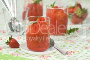 Erdbeersorbet