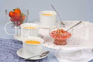 Crème Brûlée mit Obst