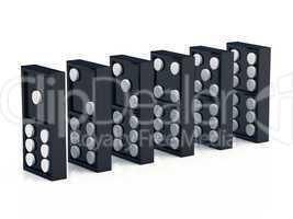 Dominosteine 1 - 2 - 3 - 4 - 5 - 6