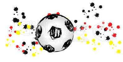 German soccer ball wave 03