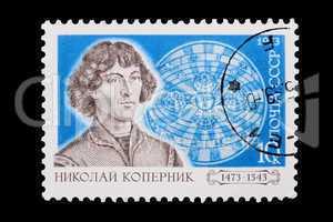 Russia - CIRCA 1973: A stamp Copernicus