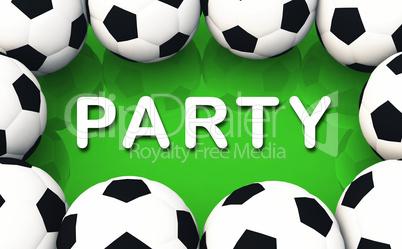 WM Konzept - Die Fussball Party
