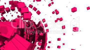 Rotierende Würfel Rot