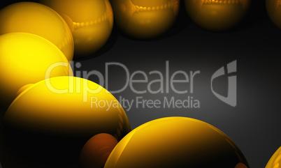 3D - Golden Balls Reflexion - Background