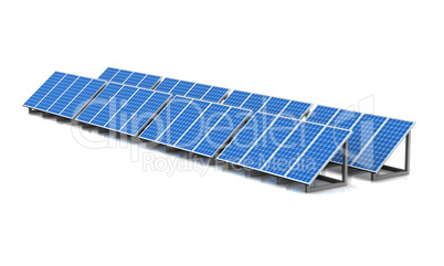 3D - Solar Energy Panels - isolated