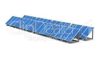 3D - Solar Energy Panels - isolated