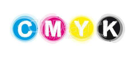 C M Y K Buchstaben - Farbreihe 08